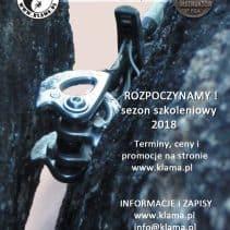 Kursy Wspinaczki Skalnej w sezonie 2018